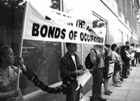 Israel bonds protest in Chicago