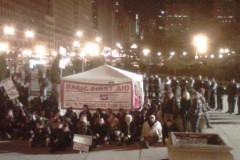 NNU first aid station in Chicago just before the arrests Saturday night