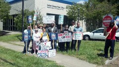 Protest in Waughtown area of Winston-Salem demands Post Office remain open.