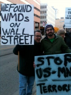 Occupy Grand Rapids protest slams Condoleezza Rice for war crimes