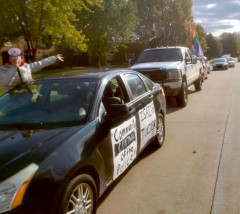 Oshkosh, WI  protest demands justice for Isaiah Tucker.