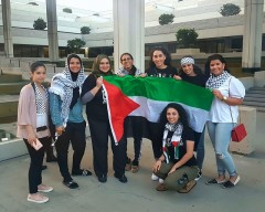 Some of the participants in South Florida rally in solidarity with Ahed Tamimi