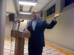 Representative Keith Ellison speaking at October 19 forum on Iran.