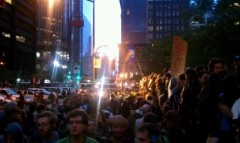 Thousands of people defended Occupy Wall Street encampment on Oct 14