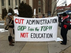 University of Minnesota SDS protests education cuts.