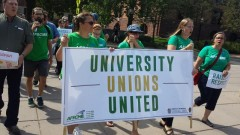 University of Minnesota workers march for raises and respect