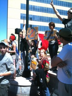 Protest against North Carolina Senate Bill 514, also known as Amendment One