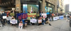 NYC protest against repression in the Philippines.