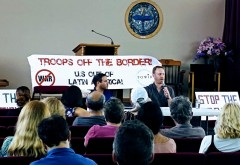 South Florida panel discussion denouncing U.S. coup attempts in Venezuela.