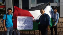Protest in San Salvador for Palestine, July 11, 2014.