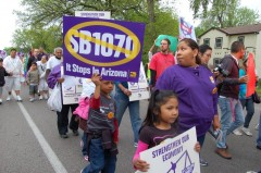 Protesters denounce SB1070 at May 1 march in Minneapolis