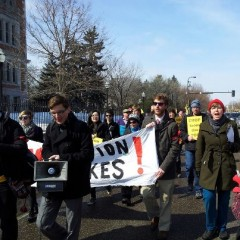 SDS leading march for education rights at University of Minnesota