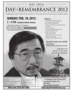 (Bay Area Day of Remembrance 2012 poster)