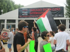 Protest at the Chicago Sister Cities annual International Festival