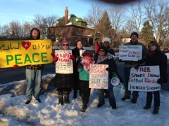 St Paul protest backs Palestinian hunger strike.