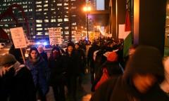 Photo of Chicago protest against FBI repression.
