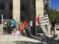 Tampa anti war protest.