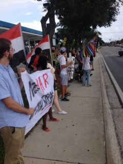 Tampa protest against U.S. attacks on Syria