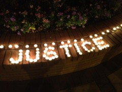 Candles spell out justice at vigil for Jordan Davis