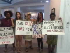 Protest at Tallahassee City Commission against more police.