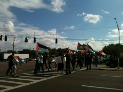 Tampa protest stands with Gaza
