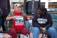 Participants in FRSO teach-in on capitalism at Occupy MN