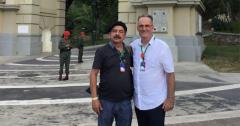 Tom Burke, FRSO Organizational Secretary with Alfredo Valdivieso