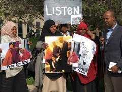 Rally in front of Mpls Federal Building demands justice for 3 Somali youth