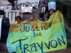 Youth at Minneapolis protest for justice for Trayvon and Terrance