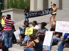 Students demand justice for the Jena 6.