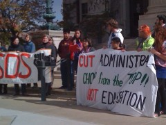 University of Minnesota students gathered for a press conference Oct. 20