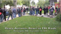 200 people in the Twin Cities gather to protest the FBI raids against antiwar ac