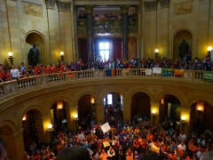 Outpouring of support for same-sex marriage bill In MN State Capitol.