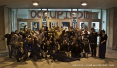 Group photo of students occupying University of Wisconsin Milwaukee