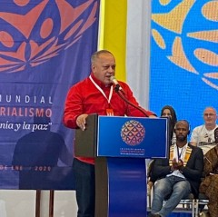 Diosdado Cabello, member of the National Assembly from the Venezuelan United So