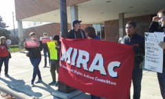 Minneapolis immigrant rights protesters target Wells Fargo Bank.