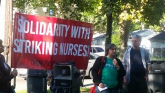 Cherrene Horazuk of Workers United for Nurses and president of AFSCME Local 3800