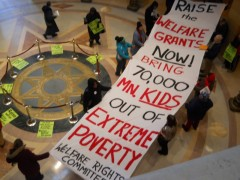 "Welfare Rights Committee demands MN lawmakers ""Raise the welfare grants now."""