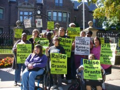 Welfare Right's protest in front of Governor Mark Dayton's mansion Sept. 25.