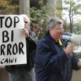 Protest in Detroit, MI against Sept. 24 FBI raids on anti-war activists