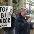 Protest in Detroit, MI against Sept. 24 FBI raids on anti-war activists