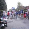 Atlanta police and demonstrators