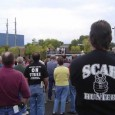 "Man with ""Scab Hunter"" Tshirt"