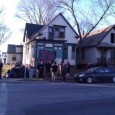 Milwaukee's Occupy Coalition in front of an abandoned home on 20th and Meinecke.