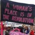 Banner in Washington DC Women's March