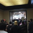 Crowd presses into offices of Hennepin County Attorney Mike Freeman