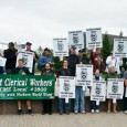Members of AFSCME and Teamsters and May rally in front of Board of  Regents meet