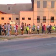 Picket line in support of Palermo's pizza workers.