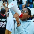 Students speak out against the Trayvon Martin killing.