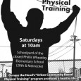 Poster for Urban Community Based Physical Training program